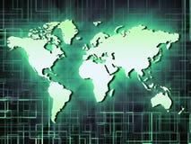 Mundo verde de néon Foto de Stock Royalty Free