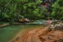 Mundo verde de Zion Foto de archivo