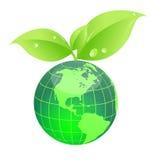 mundo verde del eco Foto de archivo