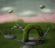 Mundo verde do poster ilustração stock