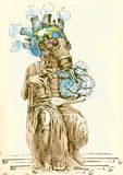 Mundo verde - Moses novo II ilustração royalty free