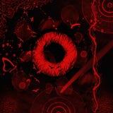 Mundo vermelho novo na noite fotografia de stock royalty free