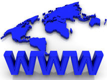 Mundo. WWW Imagem de Stock Royalty Free