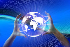 Mundo WWW del Internet stock de ilustración