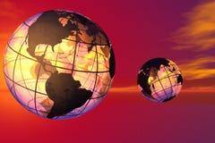 Mundo y cielo stock de ilustración