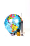 Mundo y drogas fotografía de archivo libre de regalías