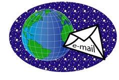 Mundo y message2 ilustración del vector