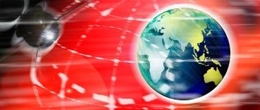 Mundo y satélite de Digitaces stock de ilustración