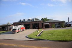 Munford Tennessee Fire Department. Munford is a city in Tipton County, Tennessee stock image