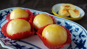mung φασολιών αλατισμένη ζύμη κέικ αυγών κινεζική ταϊλανδική Στοκ Εικόνες
