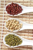 Mung with azuki and soy beans Royalty Free Stock Photography
