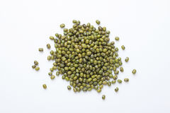 Mung bean. A pile of mung bean on a white background Royalty Free Stock Image