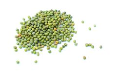 Mung bean. S is isolated on white background Royalty Free Stock Photos