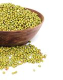 Mung bean. S is isolated on white background Stock Photos