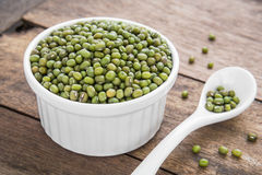 Mung Bean in bowl Royalty Free Stock Image