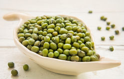 Mung Bean in bowl Royalty Free Stock Images