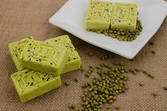 Mung bean cake Royalty Free Stock Photos