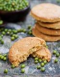 Mung bean cookies, healthy vegan dessert. Royalty Free Stock Photography