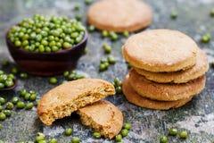 Mung bean cookies, healthy vegan dessert. Stock Photos
