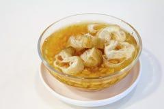 Mung Bean Dessert com Fried Dough Fritters foto de stock
