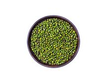 Mung bean, green moong dal in wooden bowl. Green Mung Beans Also Know as Mung Dal, moong or green gram beansVigna Radiata Pakist. The mung bean Vigna radiata royalty free stock photo