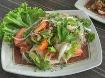 Mung Bean Noodle Spicy Salad imagem de stock