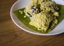 Mung bean rice crepe dessert Stock Image