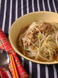 Mung bean sprouts fried minced meat Stock Photo