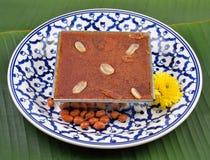 Mung Bean Thai Custard Dessert foto de stock