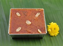 Mung Bean Thai Custard Dessert fotografia de stock