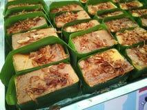 Mung Bean Thai Custard Dessert Recipe Khanom Maw Kaeng royaltyfri bild