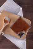 Mung Bean Thai Custard Dessert Recipe Khanom Maw Kaeng royaltyfria foton