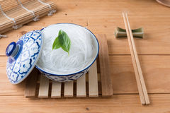 Mung bean vermicelli or cellophane noodles, a transparent thread Royalty Free Stock Images
