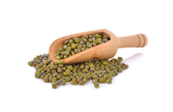 Mung bean on white Royalty Free Stock Photography