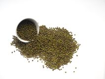 The mung beans in bowl royalty free stock image
