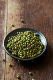 Mung beans on a ceramic plate Royalty Free Stock Photography