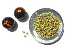 Mung Beans and Chinese Balls Stock Images