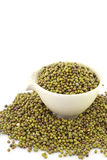 Mung beans in cup Royalty Free Stock Photos