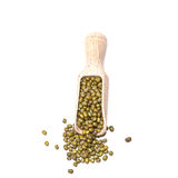 Mung beans or green beans in  spoon Stock Photo