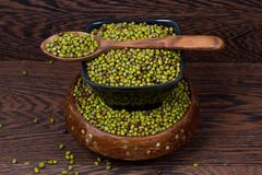 Mung beans isolated stock photo