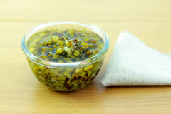 Mung beans in light syrup Royalty Free Stock Images