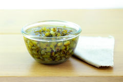 Mung beans in light syrup Royalty Free Stock Photo