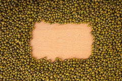 Mung beans with rectangular copy space Stock Photos