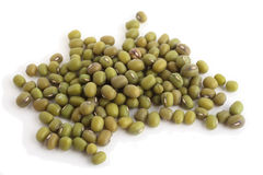 Mung beans side view Royalty Free Stock Images