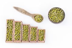 Mung beans, statistical figure - Vigna radiata. Top view. Mung beans, Statistical figure - Vigna radiata Royalty Free Stock Image