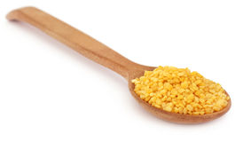 Mung dal in wooden spoon Stock Photography