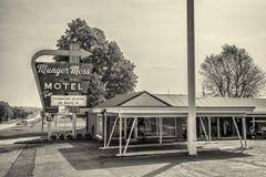 Munger Moss Motel op route 66 in Missouri stock afbeeldingen