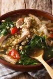 Munggo Guisado Filipino soup of beans mung closeup in a bowl. Ve Stock Photo