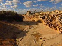 Mungo nationaal park, NSW, Australië Royalty-vrije Stock Afbeelding