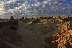 Mungo nationaal park, NSW, Australië Stock Afbeeldingen
